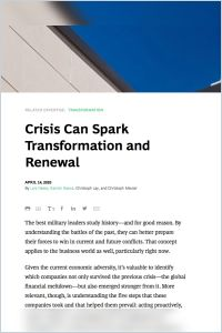 Crisis Can Spark Transformation and Renewal