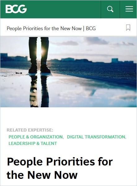 Image of: People Priorities for the New Now