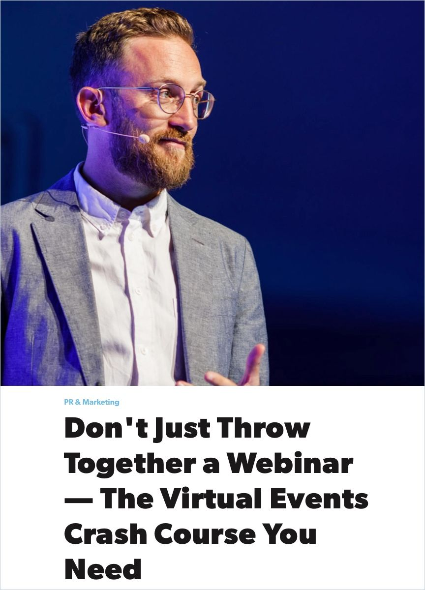 Image of: Don't Just Throw Together a Webinar