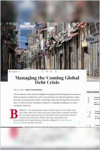 Managing the Coming Global Debt Crisis summary