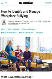 How to Identify and Manage Workplace Bullying summary