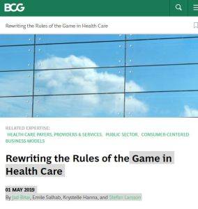 Rewriting the Rules of the Game in Health Care