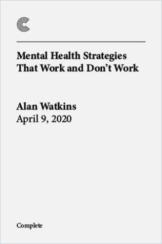 Image of: Mental Health Strategies That Work and Don't Work