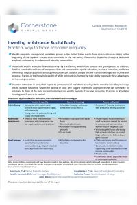 Investing to Advance Racial Equity summary