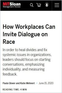 How Workplaces Can Invite Dialogue on Race summary