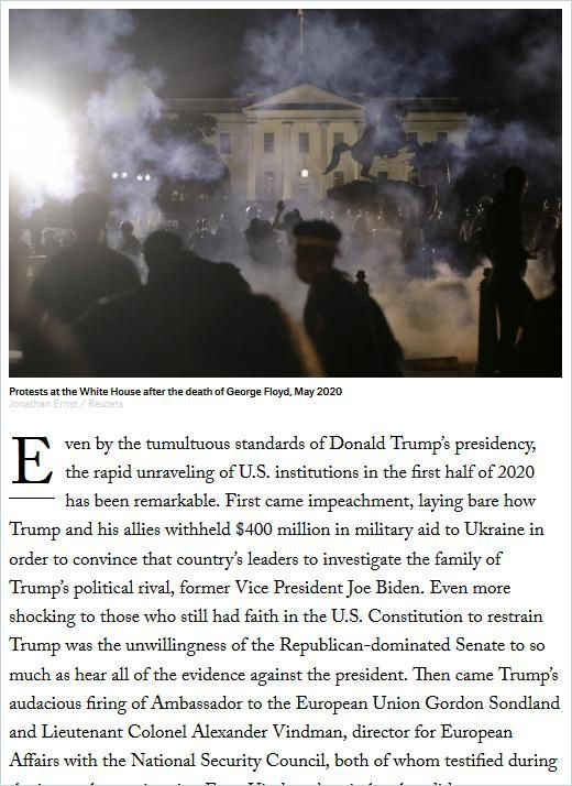 Image of: America's Democratic Unraveling