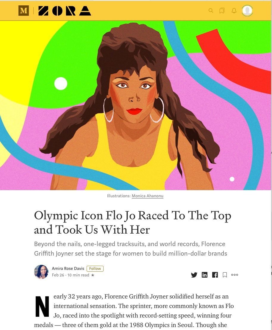 Image of: Olympic Icon Flo Jo Raced to the Top and Took Us with Her