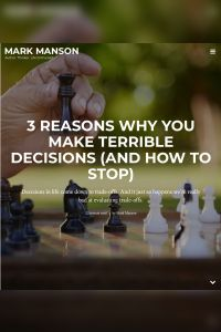 3 Reasons You Make Terrible Decisions (and How to Stop) summary
