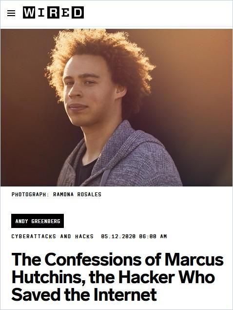 Image of: The Confessions of Marcus Hutchins, the Hacker Who Saved the Internet