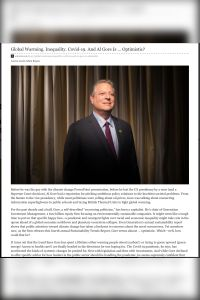 Global Warming. Inequality. Covid-19. And Al Gore Is…Optimistic? summary