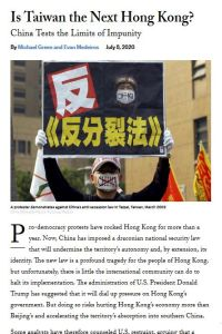 Is Taiwan the Next Hong Kong? summary