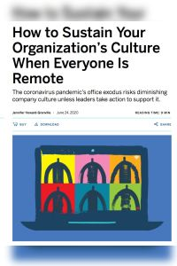 How to Sustain Your Organization's Culture When Everyone Is Remote summary