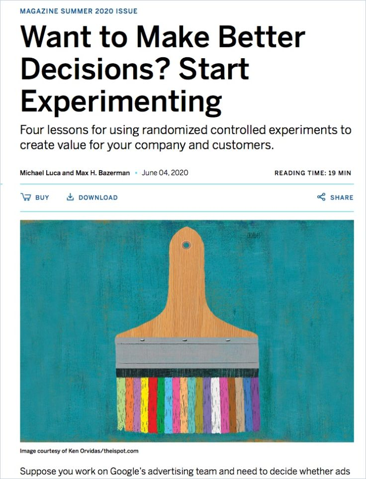 Image of: Want to Make Better Decisions, Start Experimenting