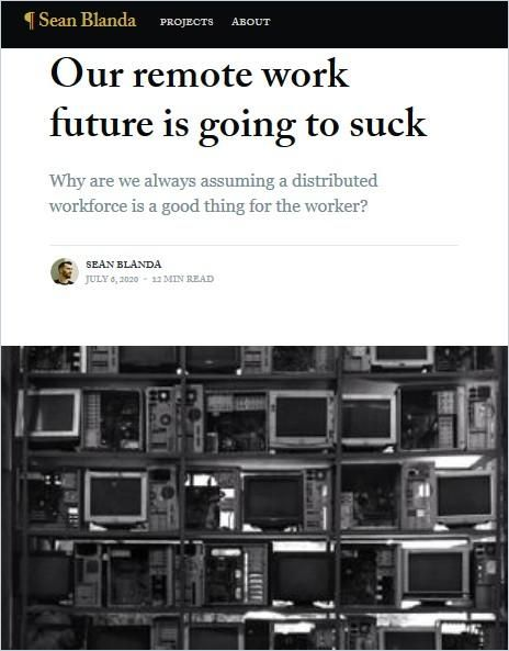 Image of: Our Remote Work Future Is Going to Suck