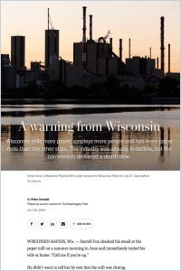 A Warning from Wisconsin summary