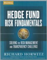 Hedge Fund Risk Fundamentals book summary