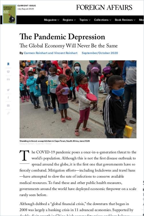 Image of: The Pandemic Depression