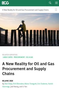 A New Reality for Oil and Gas Procurement and Supply Chains summary