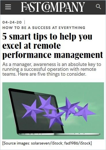 Image of: 5 smart tips to help you excel at remote performance management