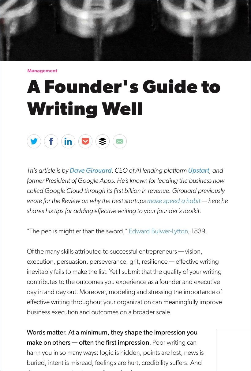 Image of: The Founder's Guide to Writing Well