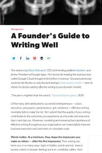 The Founder's Guide to Writing Well summary