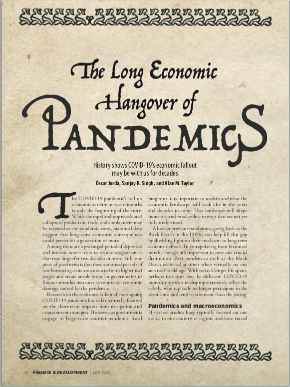 Image of: The Long Economic Hangover of Pandemics