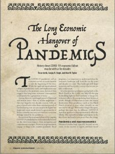 The Long Economic Hangover of Pandemics