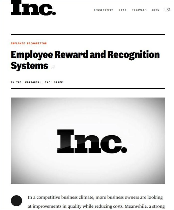 Image of: Employee Reward and Recognition Systems