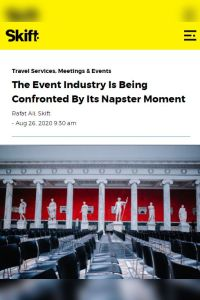 The Event Industry Is Being Confronted By Its Napster Moment summary