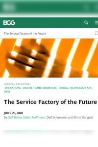 The Service Factory of the Future summary