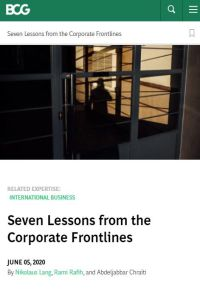 Seven Lessons from the Corporate Frontlines summary