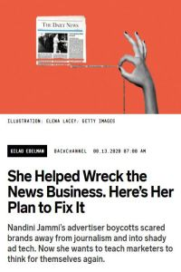 She Helped Wreck the News Business. Here's Her Plan to Fix It summary