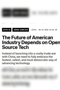 The Future of American Industry Depends on Open Source Tech summary