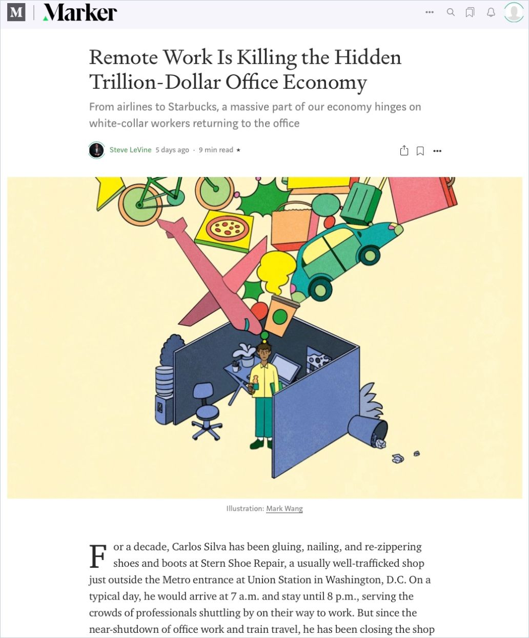 Image of: Remote Work Is Killing the Hidden Trillion-Dollar Office Economy