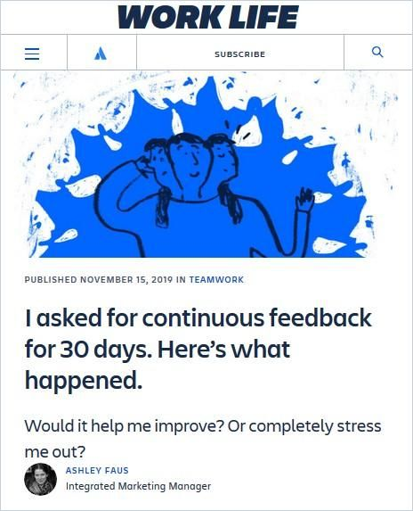 Image of: I asked for continuous feedback for 30 days. Here's what happened.
