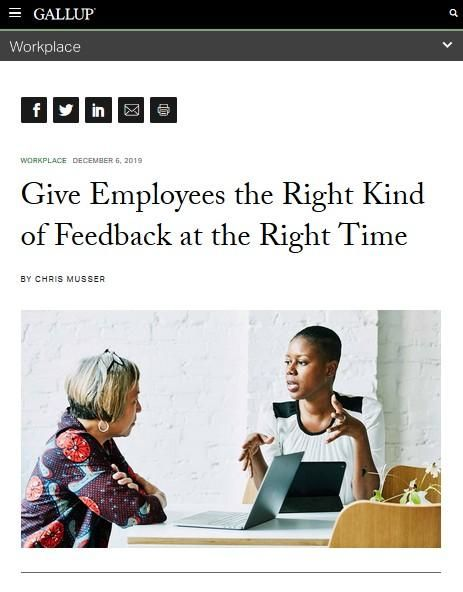 Image of: Give Employees the Right Kind of Feedback