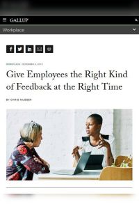 Give Employees the Right Kind of Feedback summary