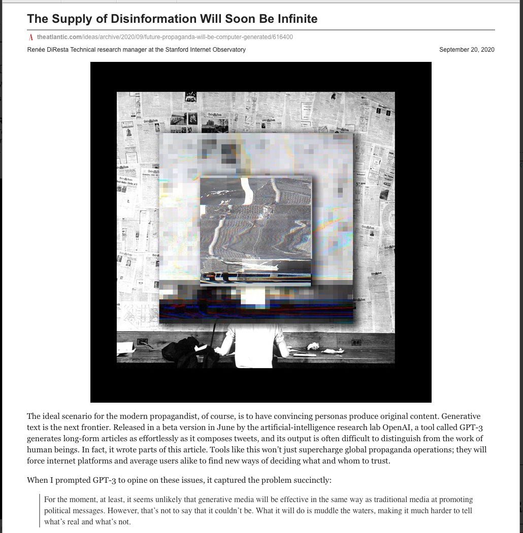 Image of: The Supply of Disinformation Soon Will Be Infinite