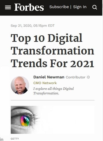 Image of: Top 10 Digital Transformation Trends for 2021