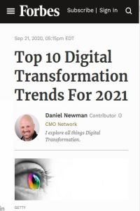 Top 10 Digital Transformation Trends for 2021 summary