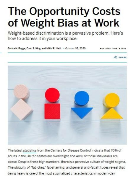 Image of: The Opportunity Costs of Weight Bias at Work