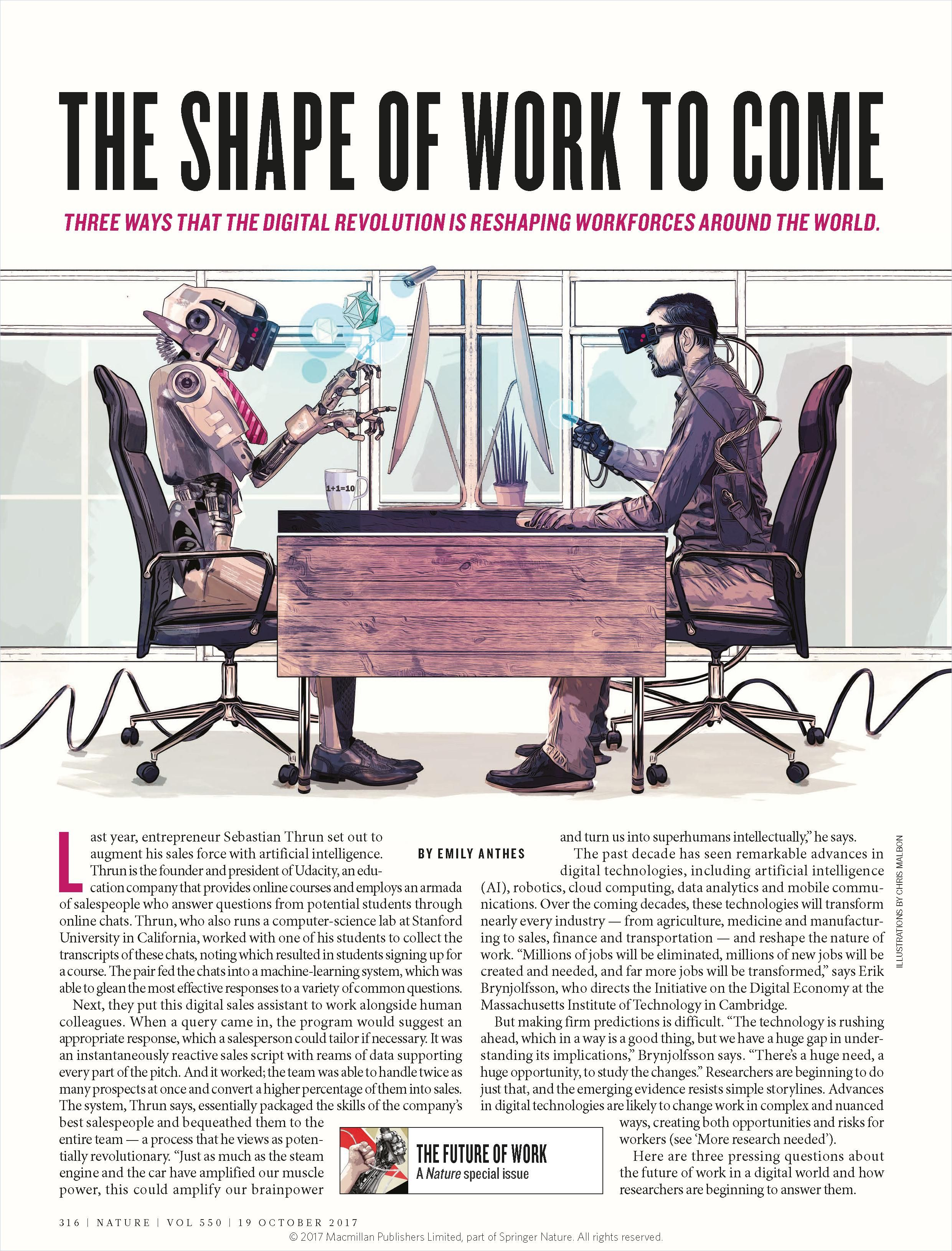 Image of: The Shape of Work to Come