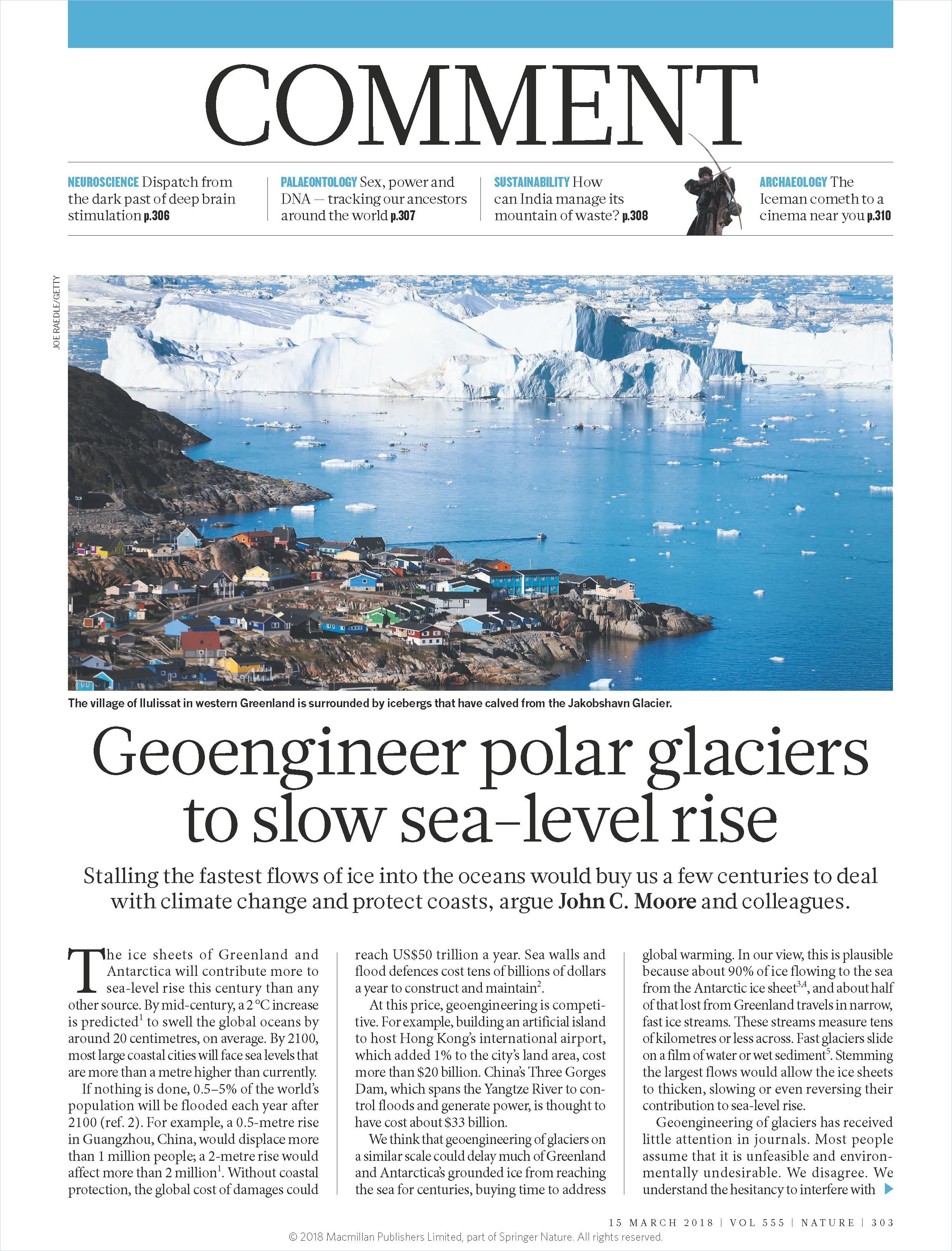 Image of: Geoengineer Polar Glaciers to Slow Sea-Level Rise