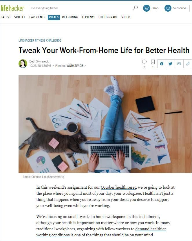 Image of: Tweak Your Work-from-Home Life for Better Health
