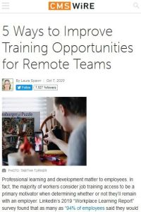 5 Ways to Improve Training Opportunities for Remote Teams summary