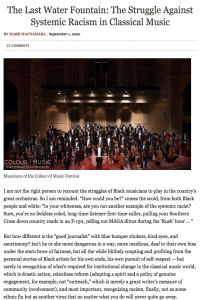 The Last Water Fountain: The Struggle Against Systemic Racism in Classical Music summary