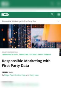 Responsible Marketing with First-Party Data summary