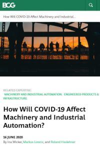 How Will COVID-19 Affect Machinery and Industrial Automation? summary