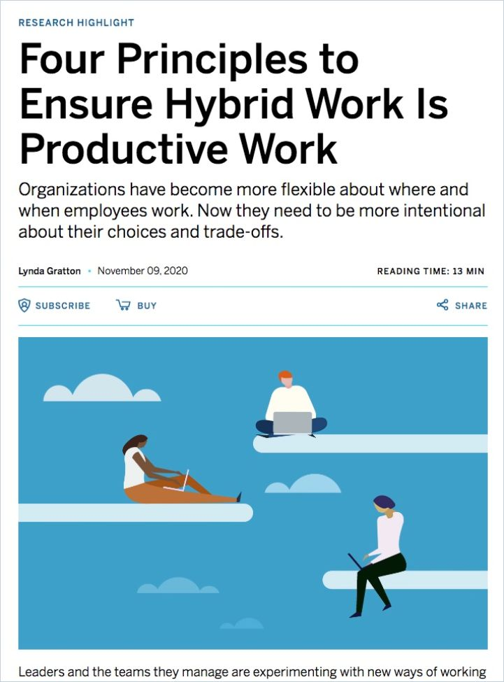 Image of: Four Principles to Ensure Hybrid Work Is Productive Work