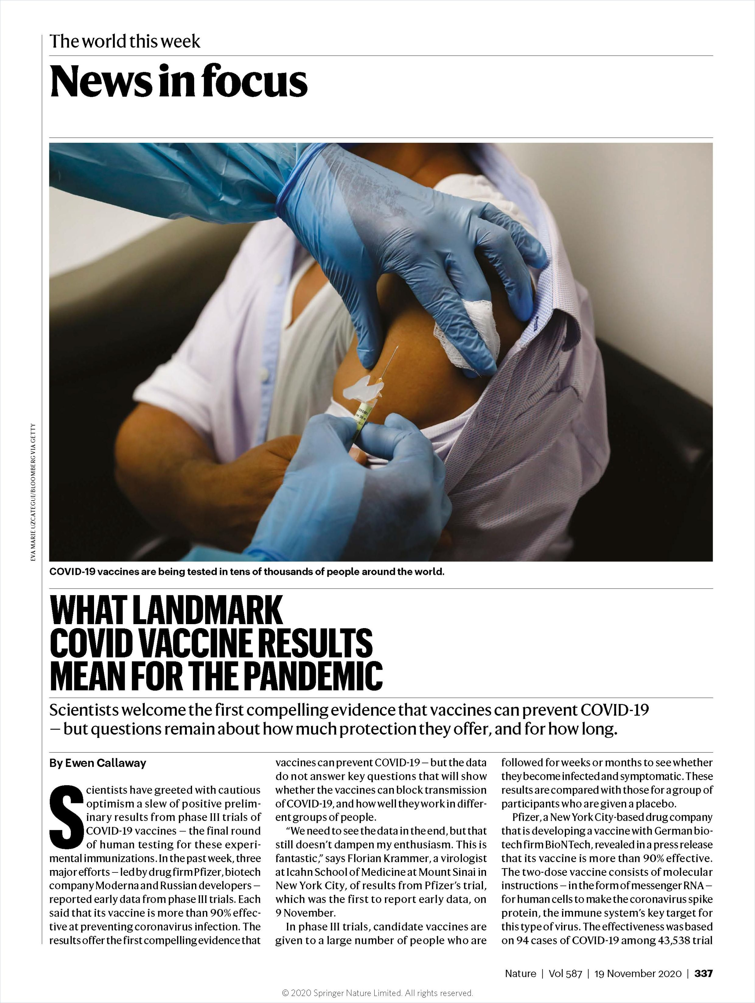 Image of: What Landmark COVID Vaccine Results Mean for the Pandemic
